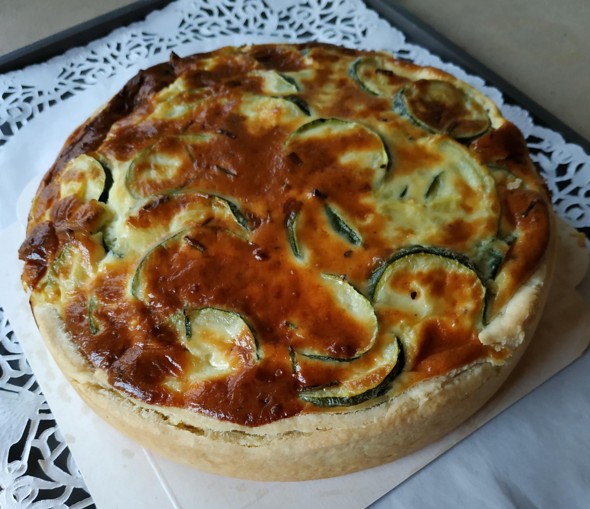 Tarte aux courgettes et fromage de che vre