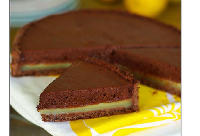 Tarte citron et mousse de chocolat