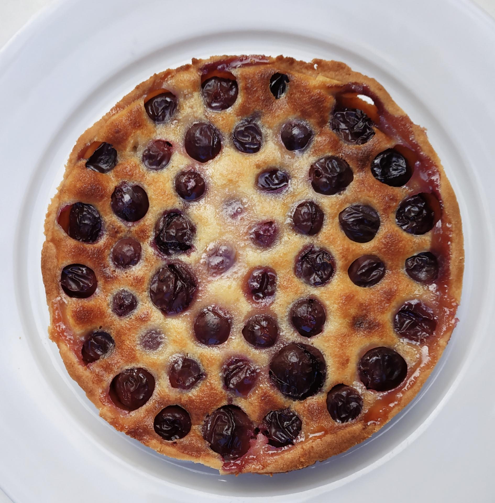 Tarte clafoutis aux raisins noirs